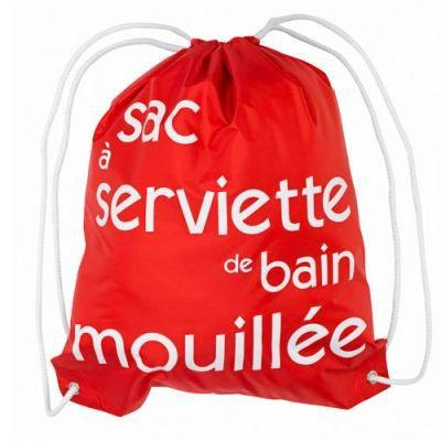 Le sac serviette de bain mouill e rouge blanc achat - Rangement serviette de bain ...