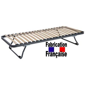 SOMMIER Sommier pieds repliable 90x190