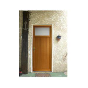 Porte d entree bois achat vente porte d entree bois for Porte de service en pvc pas cher
