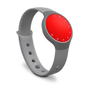 BRACELET MONTRE CONNEC. Misfit Flash Tracker d'activité/sommeil Rouge Gris