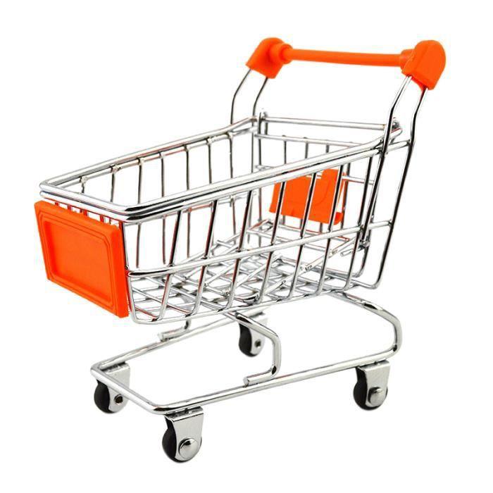 mini chariot de courses pour enfant 11cm 8cm orange achat vente chariot de marche. Black Bedroom Furniture Sets. Home Design Ideas