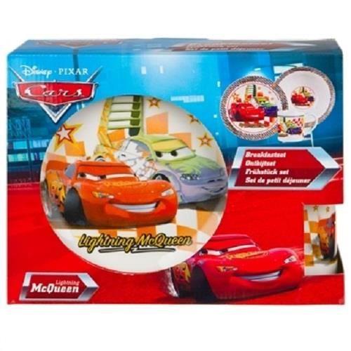 Coffret set petit dejeuner cars achat vente service for Set petit dejeuner porcelaine