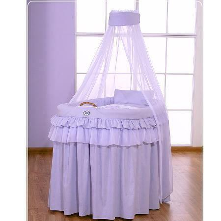 Berceau b b en osier complet avec textile mauve achat vente berceau et s - Berceau bebe cdiscount ...