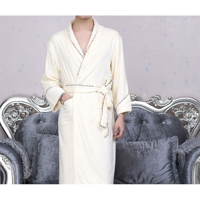 Robe de chambre bambou beige homme achat vente robe de chambre cdiscount - Achat robe de chambre homme ...