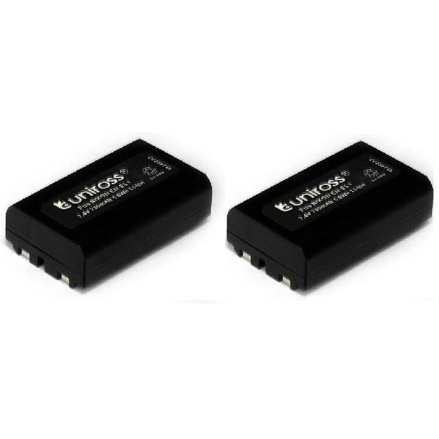 2 batteries uniross pour appareil photo nikon en el1 li. Black Bedroom Furniture Sets. Home Design Ideas
