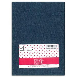 MLLE TOGA Tissu jeans thermocollant - A5 - marine
