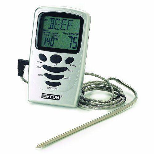 Cdn thermom tre de cuisson sonde avec minuter achat for Thermometre de cuisine avec sonde