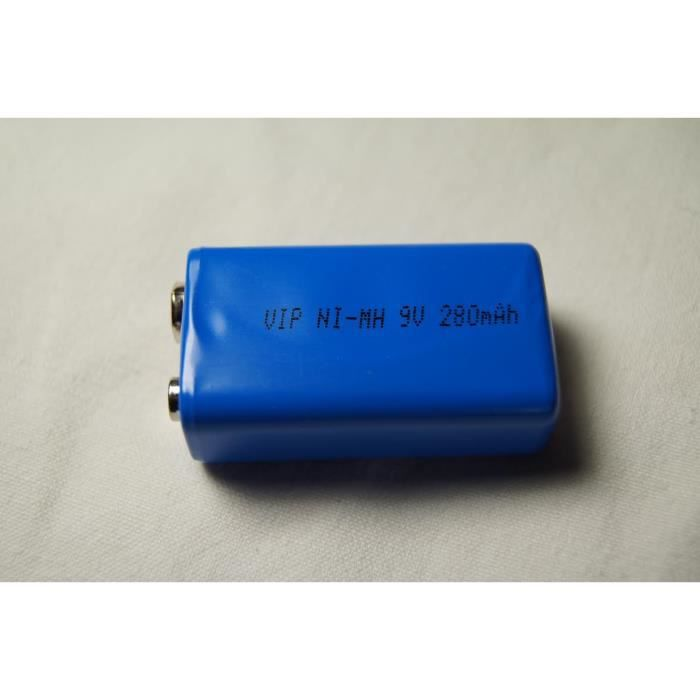 Pile 9v rechargeable ni mh 280mah vip achat vente - Pile 9v rechargeable ...