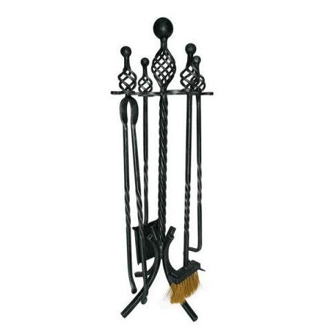 Valet de chemin e en fer forg 4 accessoires achat vente accessoires chem - Valet de cheminee design ...