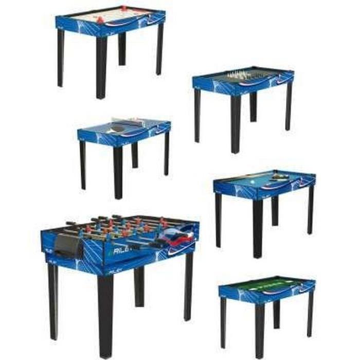 Table de jeux 6 en 1 achat vente accessoire multi jeux soldes d t cd - Table multi jeux 5 en 1 ...