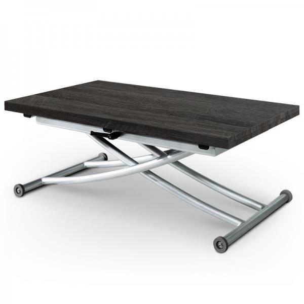 Table basse relevable ilona bois noir vintage achat - Table basse noir bois ...