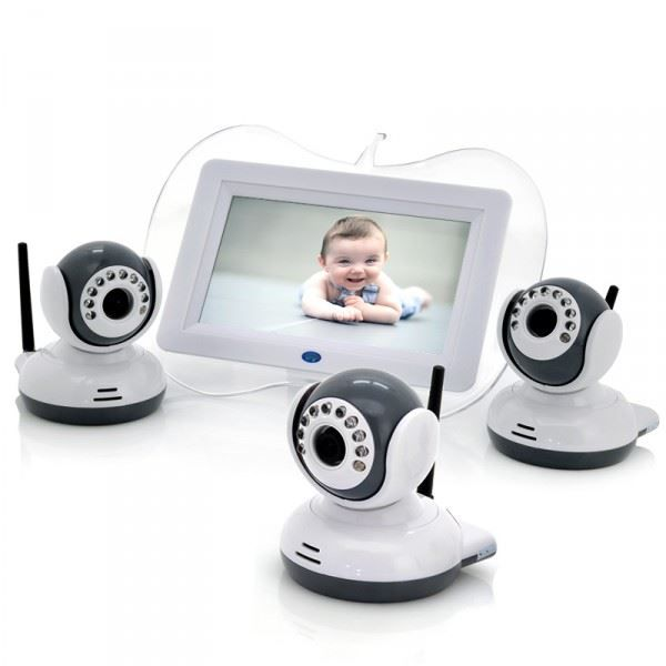 babyphone visiophone 3 camera vision nocturne ecr achat vente coute b b 3662756005509. Black Bedroom Furniture Sets. Home Design Ideas