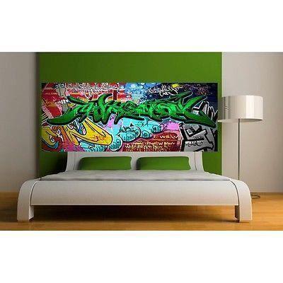 papier peint t te de lit tag grafitti 3676 dimensions 100x39cm achat vente papier peint. Black Bedroom Furniture Sets. Home Design Ideas