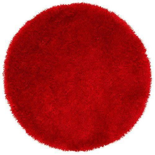 kiyou shaggy ks 5 tapis rond rouge 100 cm achat vente tapis cdiscount. Black Bedroom Furniture Sets. Home Design Ideas