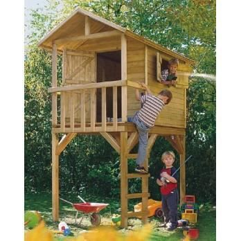 cabane en bois sur pilotis wistler 120 x 240 cm achat vente maisonnette ext rieure cdiscount. Black Bedroom Furniture Sets. Home Design Ideas