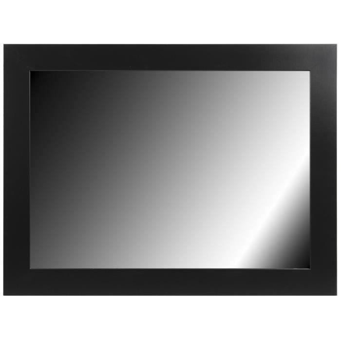 Brio miroir phoenix noir 50x70 cm achat vente miroir for Miroir 50x70