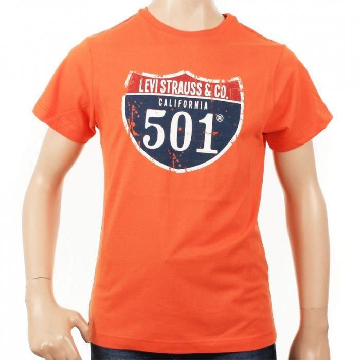 tee shirt levi 39 s enfant orange achat vente t shirt tee shirt levi 39 s enfant cdiscount. Black Bedroom Furniture Sets. Home Design Ideas