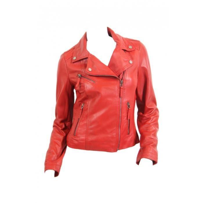 blouson cuir rouge femme redskins images. Black Bedroom Furniture Sets. Home Design Ideas