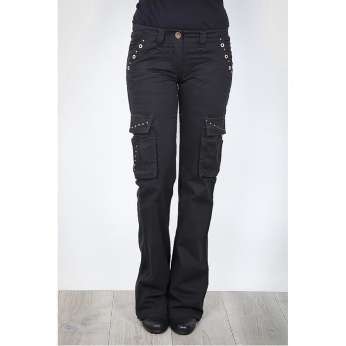 Pantalon treilli noir strass et noir achat vente pantalon cdiscount for Bureaux adolescente noir et strass