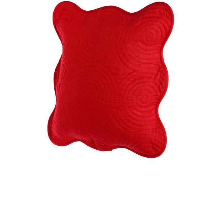 Housse de coussin rouge achat vente housse de coussin for Housse coussin rouge