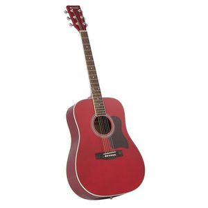 WESTWOOD F-650R Guitare Folk 4/4 Rouge