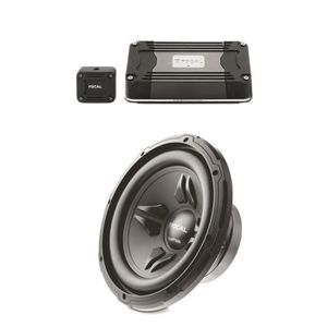 KIT FOCAL Amplificateur Ultra-compact Mono FD 1.350 210 W RMS 350 W Max + Subwoofer Auditor R-250S 250 W RMS 500 W M
