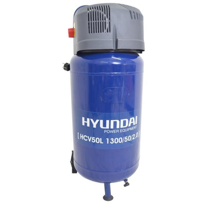 hyundai compresseur vertical 50l hcv50l achat vente compresseur plastique acier cadeaux de. Black Bedroom Furniture Sets. Home Design Ideas