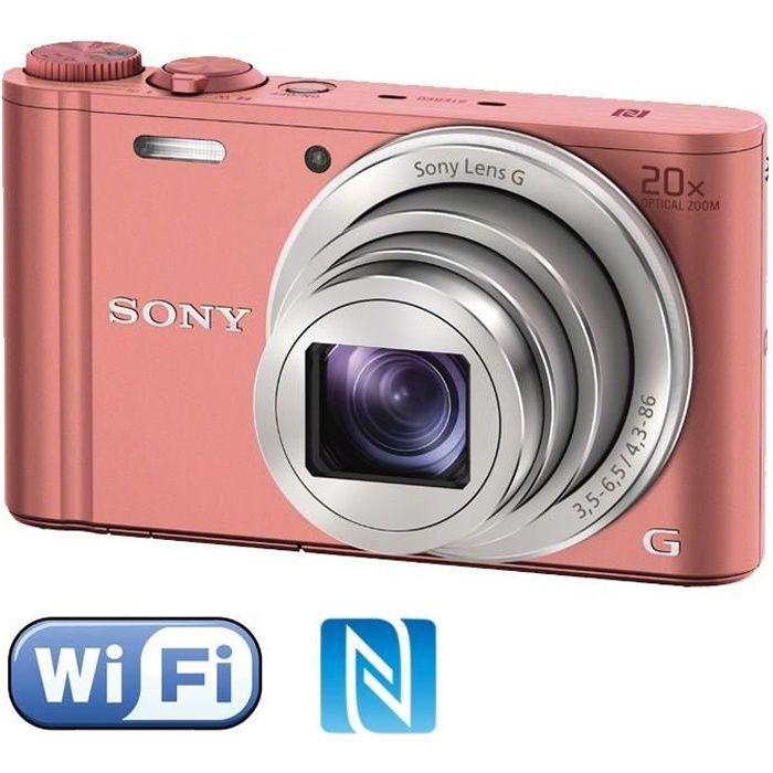 APPAREIL PHOTO COMPACT SONY DSC-WX350 Rose - CMOS 18 MP Zoom 20x Appareil