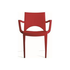 CHAISE Chaise design rouge Palermo
