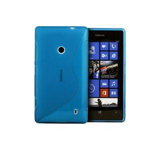 COQUE - BUMPER Coque Nokia Lumia 520 Silicone Grip Color-Bleu tur