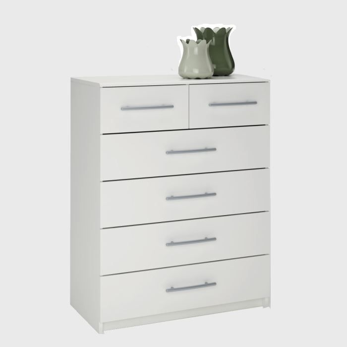 washington commode blanche achat vente commode de chambre washington commode blanche bois. Black Bedroom Furniture Sets. Home Design Ideas