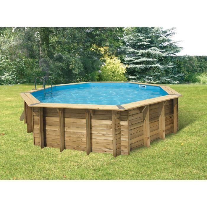 Ubbink piscine bois ocea beige 580 h130cm achat for Achat piscine bois