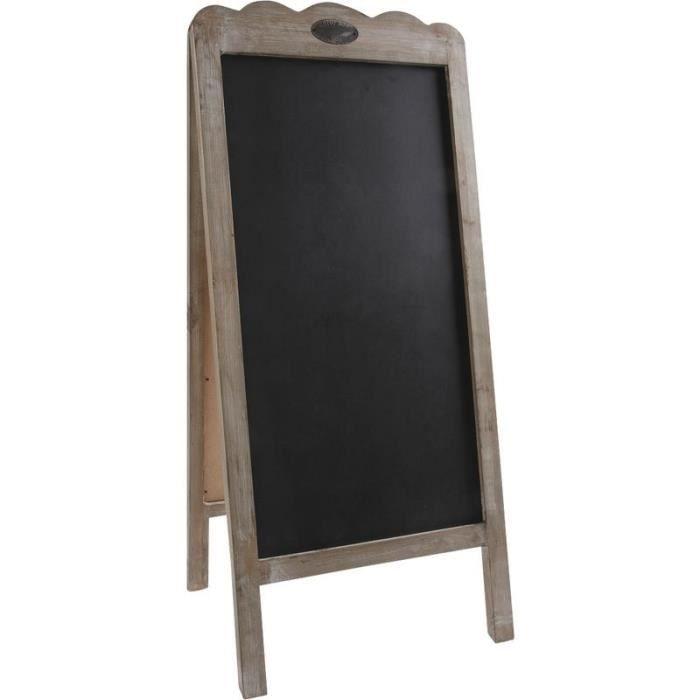 Tableau noir double sur tr pied en bois vieilli achat - Tableau ardoise noir ...