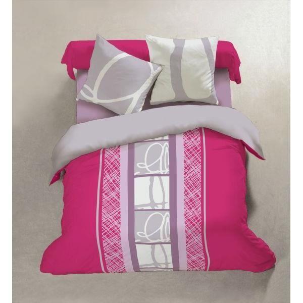 Parure de lit en 100 flanelle de coton comprenant la - Housse couette flanelle 220x240 ...