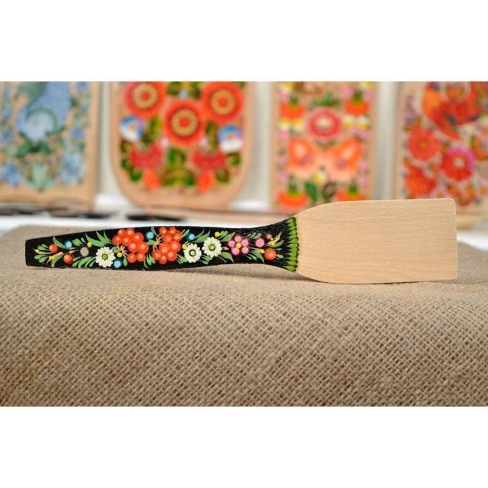 Spatule en bois fait main couvert de table d cor e d co for Table cuisine originale