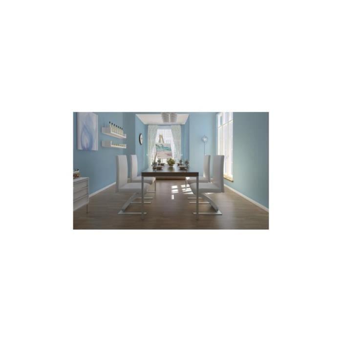 Ensemble de 4 chaises design blanches achat vente chaise cdiscount - Chaises blanches design ...