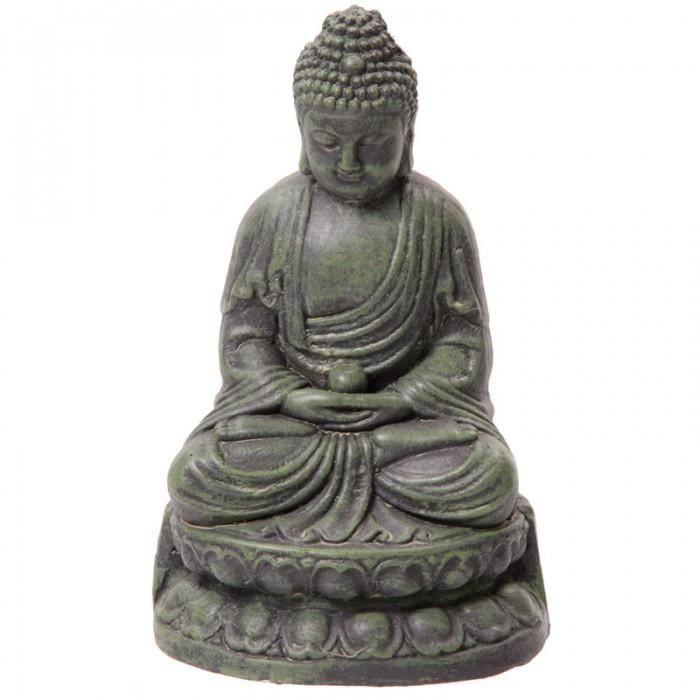Bouddha de jardin vert statue sculpture 21cms achat vente statue statuette bouddha de for Decoration jardin bouddha