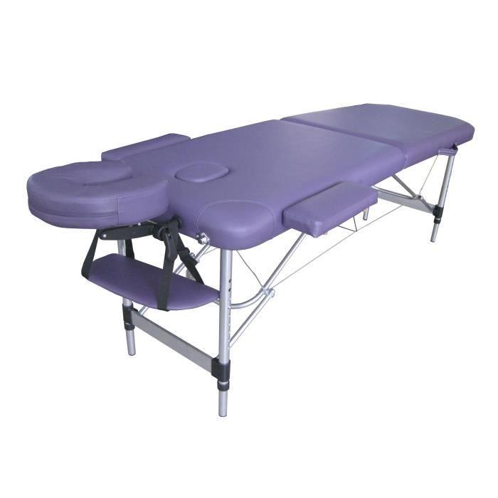 n6p table de massage violet pliante portable alu achat. Black Bedroom Furniture Sets. Home Design Ideas