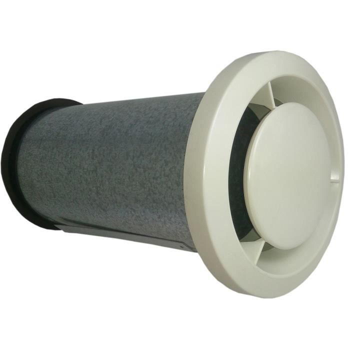 bouche vmc elge beton 125n en metal achat vente. Black Bedroom Furniture Sets. Home Design Ideas