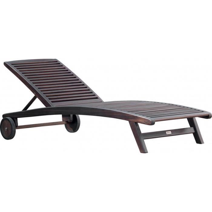 bain de soleil roulettes balau massif noyer noir achat. Black Bedroom Furniture Sets. Home Design Ideas