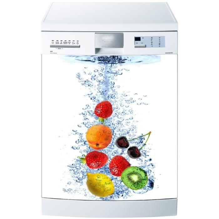 Magnet lave vaisselle fruits dans l eau 60x60cm achat for Mon lave vaisselle fuit