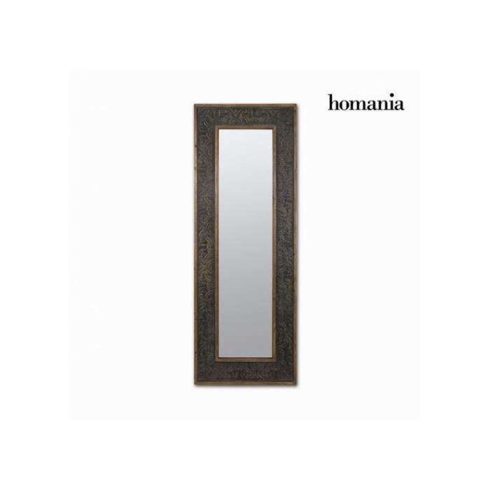 Miroir rectangulaire bois noir alyssa achat vente for Miroir noir rectangulaire