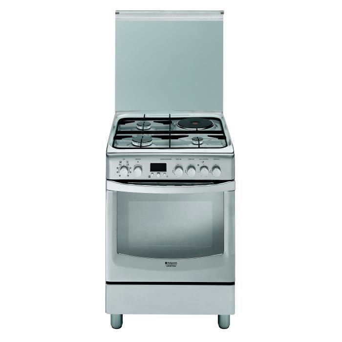 Hotpoint ariston cx61sfaxf has cuisini re table mixte gaz lectrique 4 foyers 2000w four - Cuisiniere mixte gaz induction ...