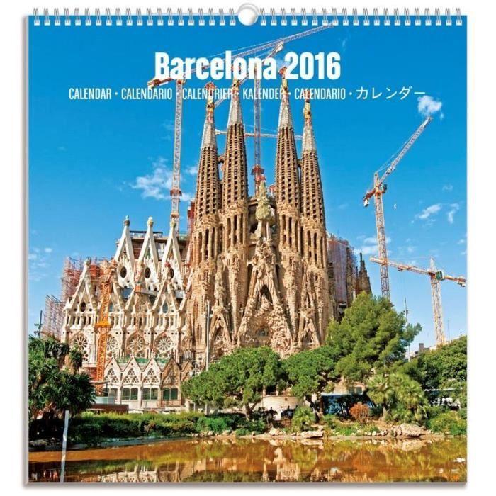 Calendrier Touristique Mediano 2016 Barcelona Sagrada Familia - Achat ...