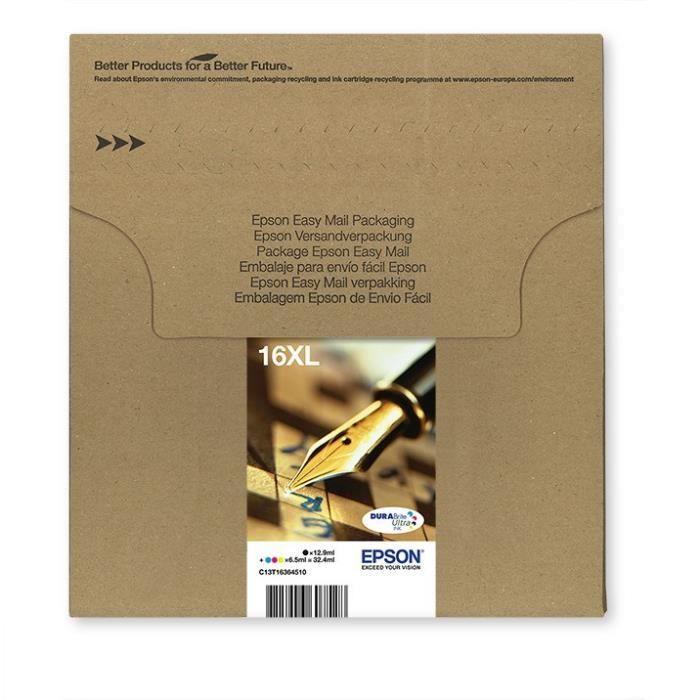 cartouche epson t1636 xl stylo plume easymail multiplack 4 couleurs prix pas cher cdiscount. Black Bedroom Furniture Sets. Home Design Ideas