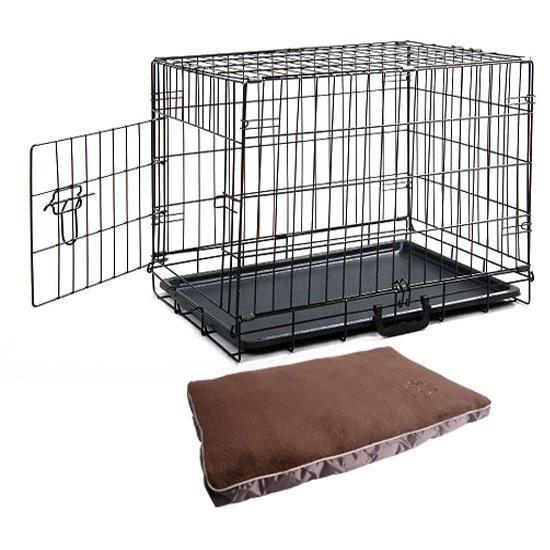 caisse cage de transport chien en m tal pliante no achat vente caisse de transport cage. Black Bedroom Furniture Sets. Home Design Ideas