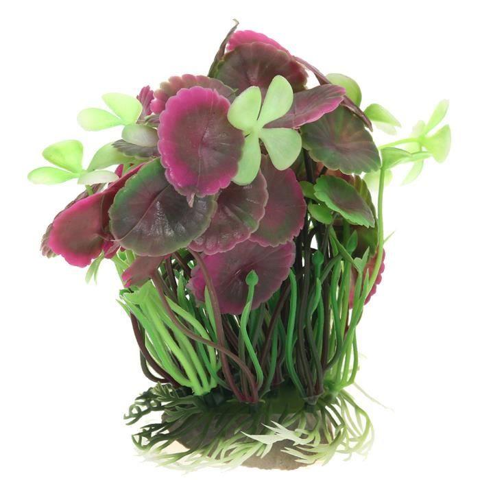 faux ornement silicone pour nettoyer l 39 herbe artificielle lotus feuilles des plantes fish tank. Black Bedroom Furniture Sets. Home Design Ideas