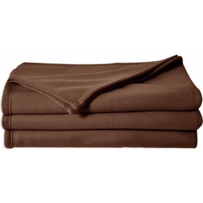 poleco couverture polaire chocolat 220 achat vente couverture plaid cdiscount. Black Bedroom Furniture Sets. Home Design Ideas