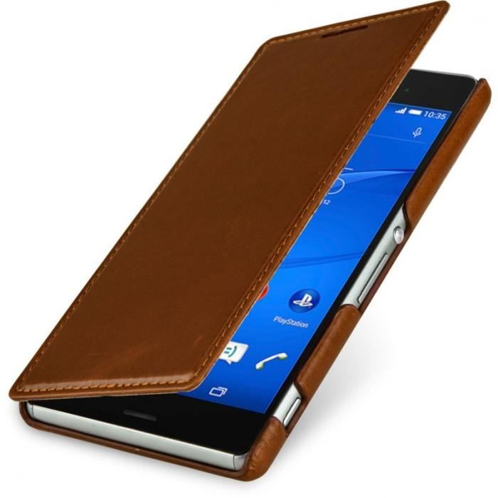 Housse xperia z3 compact stilgut book type achat for Housse xperia x compact