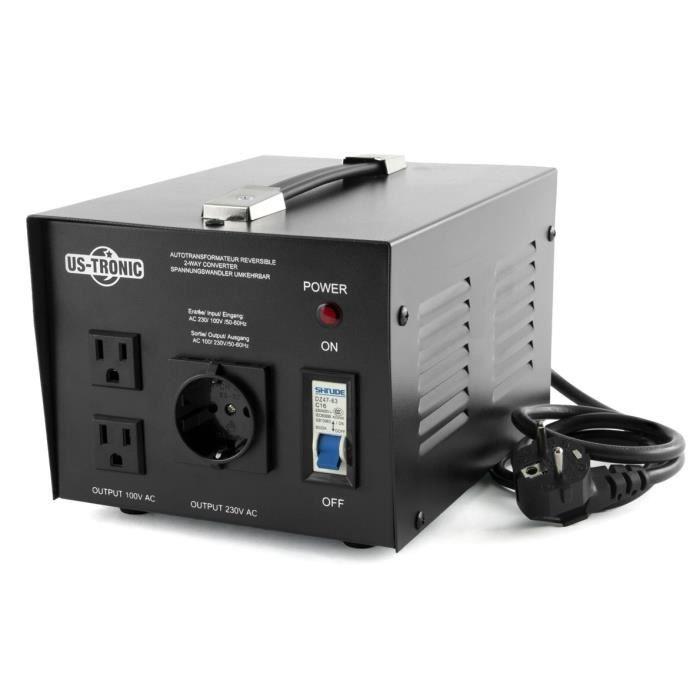 Transformateur 100 v 220 v r versible 1000 watt achat - Transformateur 220 12 volts continu ...